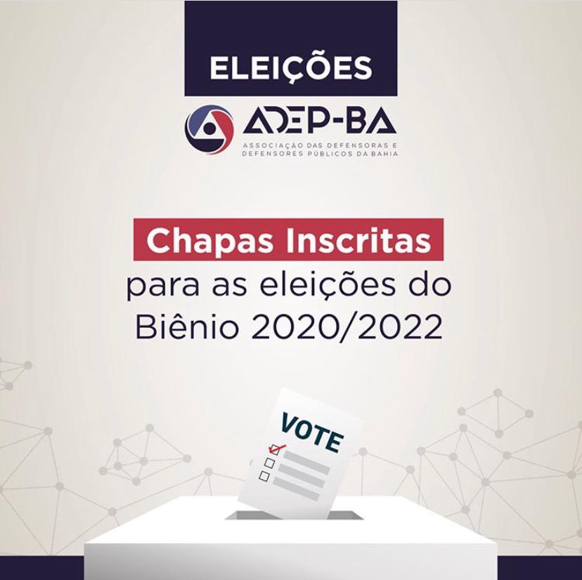 Comissão eleitoral divulga resultado da inscrição de chapas