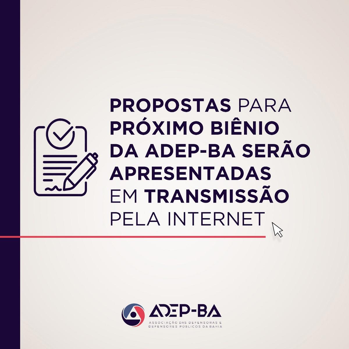 Propostas para próximo biênio serão apresentadas em transmissão pela internet