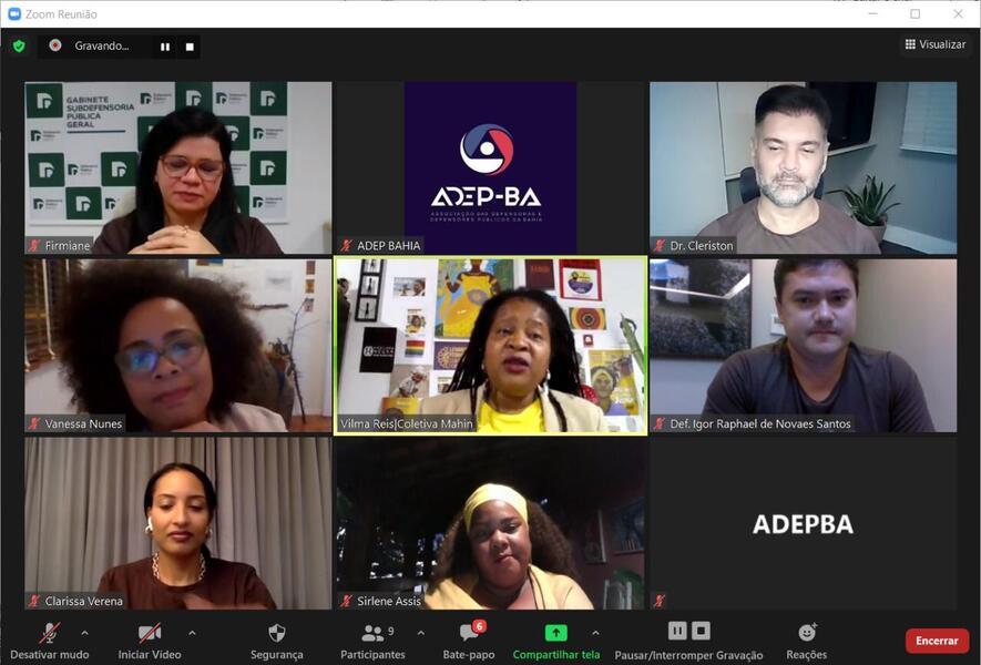 ADEP-BA promove roda de conversa para apresentação da Campanha Nacional da Anadep