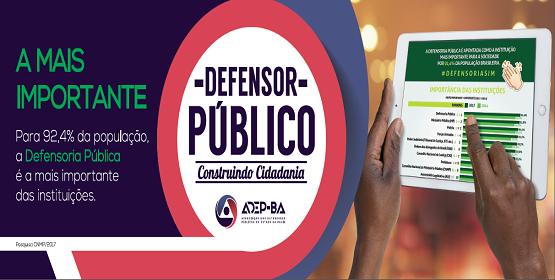 Defensor público: construindo cidadania - 2017